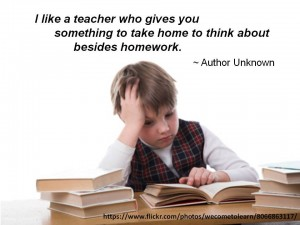 Homework should not just be a repeat of what you did in the classroom